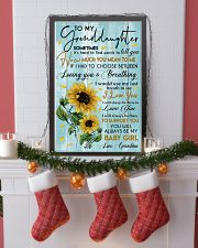 To My Granddaughter 11x17 Poster lifestyle-holiday-poster-4
