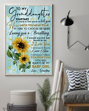 To My Granddaughter 11x17 Poster lifestyle-poster-1