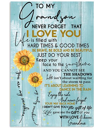 To My Grandson - With Love And Kisses Grandma