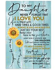 To My Daughter  With Love And Kisses Mom 11x17 Poster front