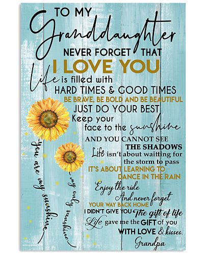To My Granddaughter - With Love And Kisses Grandpa