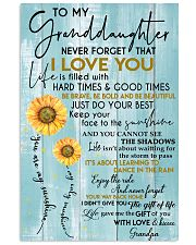 To My Granddaughter - With Love And Kisses Grandpa 11x17 Poster front