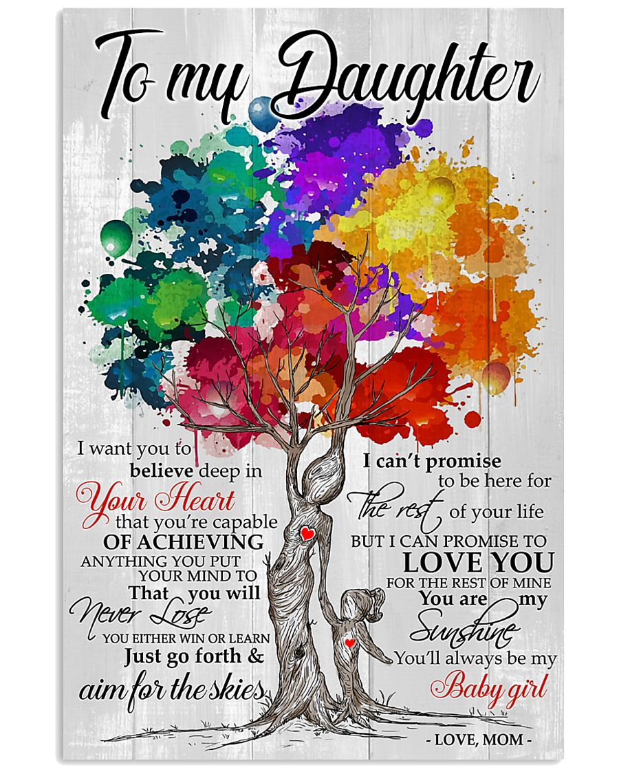1 DAY LEFT - To My Daughter - Love Mom 11x17 Poster