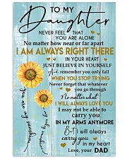 TO MY DAUGHTER - LOVE - YOUR DAD 11x17 Poster front