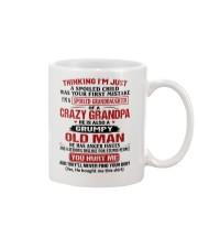 Thinking I'm Spoiled Granddaugher Of Crazy Grandpa Mug thumbnail