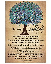 To My Granddaughter Love Grandma  16x24 Poster front