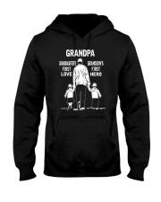 Grandpa-Granddaughter 1st Love-Grandson 1st Hero Hooded Sweatshirt thumbnail