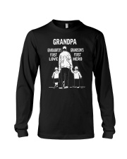 Grandpa-Granddaughter 1st Love-Grandson 1st Hero Long Sleeve Tee thumbnail