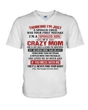 Thinking I'm Just A Spoiled Child V-Neck T-Shirt thumbnail