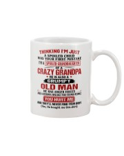 Thinking I'm Spoiled Granddaugher Of Crazy Grandpa Mug thumbnail