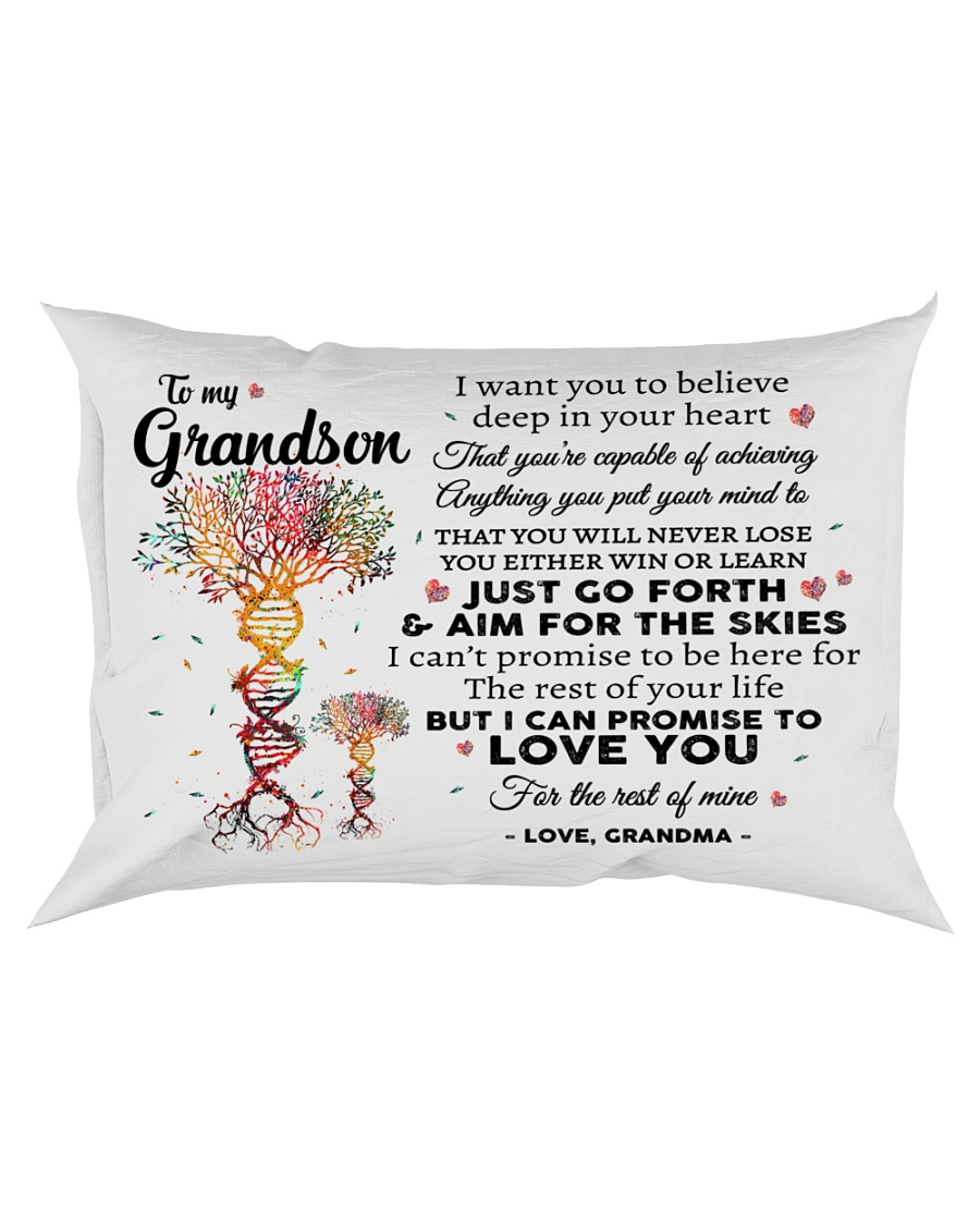 To My Grandson Rectangular Pillowcase