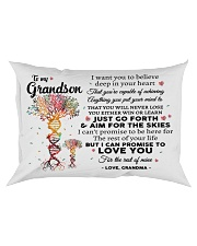 To My Grandson Rectangular Pillowcase front