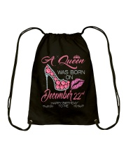 December Queen 22 Drawstring Bag thumbnail
