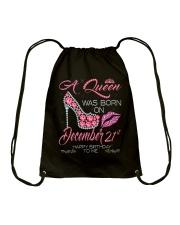 December Queen 21 Drawstring Bag thumbnail