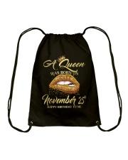 November Queen 25 Drawstring Bag thumbnail