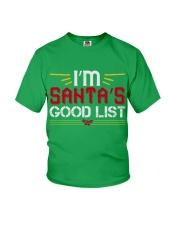 I'm Santa's Good List Youth T-Shirt front