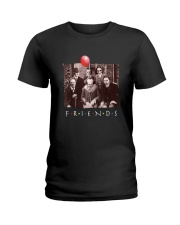 Friends Horror Movie Creepy Halloween Ladies T-Shirt tile
