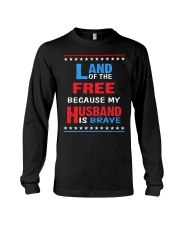 My Husband is Brave Long Sleeve Tee thumbnail