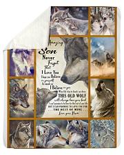 "Woft Blanket- To my Amazing Son Sherpa Fleece Blanket - 50"" x 60"" thumbnail"