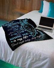 "Blanket To My Gorgeous GirlFriend Small Fleece Blanket - 30"" x 40"" aos-coral-fleece-blanket-30x40-lifestyle-front-10"