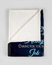 "Blanket To My Gorgeous GirlFriend Small Fleece Blanket - 30"" x 40"" aos-coral-fleece-blanket-30x40-lifestyle-front-17"