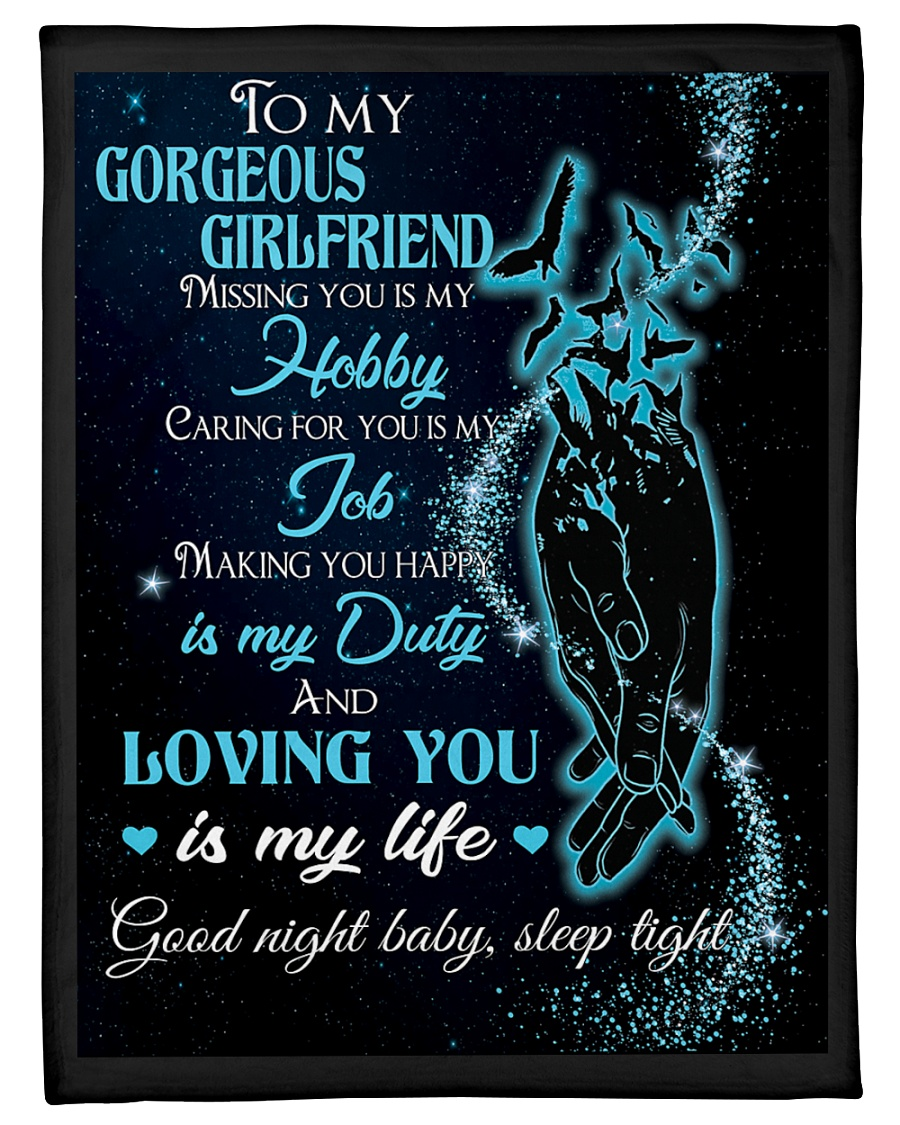 "Blanket To My Gorgeous GirlFriend Small Fleece Blanket - 30"" x 40"""