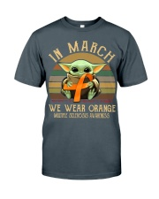 In March we wear orange Vintage Multiple Sclerosis Classic T-Shirt thumbnail