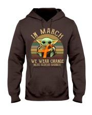 In March we wear orange Vintage Multiple Sclerosis Hooded Sweatshirt thumbnail