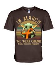 In March we wear orange Vintage Multiple Sclerosis V-Neck T-Shirt thumbnail