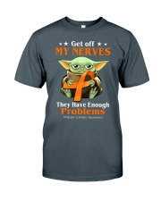 Get off my nerves Multiple Sclerosis Awareness Classic T-Shirt thumbnail