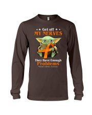 Get off my nerves Multiple Sclerosis Awareness Long Sleeve Tee thumbnail