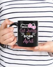 Real Cat Ladies born in April  Mug ceramic-mug-lifestyle-35