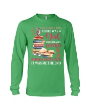 A girl who really love books and cat Long Sleeve Tee thumbnail