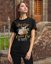 Coffee and Cat Classic T-Shirt apparel-classic-tshirt-lifestyle-06