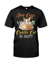 Coffee and Cat Classic T-Shirt front