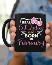Real Cat Ladies born in February Mug ceramic-mug-lifestyle-58