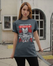 Push You In Front Of Zombie To Save My Cat Classic T-Shirt apparel-classic-tshirt-lifestyle-19