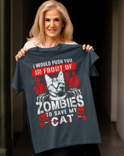 Push You In Front Of Zombie To Save My Cat Classic T-Shirt apparel-classic-tshirt-lifestyle-front-118