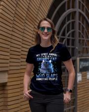My spirit animal is a grumpy cat Ladies T-Shirt lifestyle-women-crewneck-front-2