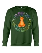 i am mostly peace love and cats Crewneck Sweatshirt thumbnail