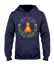 i am mostly peace love and cats Hooded Sweatshirt thumbnail