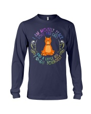 i am mostly peace love and cats Long Sleeve Tee thumbnail