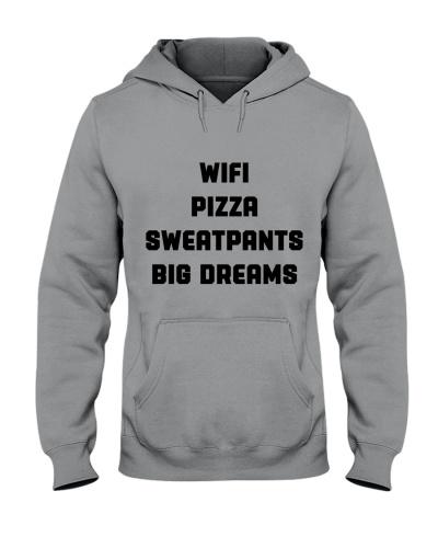 Wifi Pizza Sweatpants Big Dreams