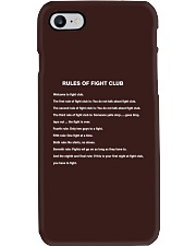 Rules Of The Fight Club Phone Case thumbnail