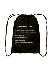 Rules Of The Fight Club Drawstring Bag thumbnail