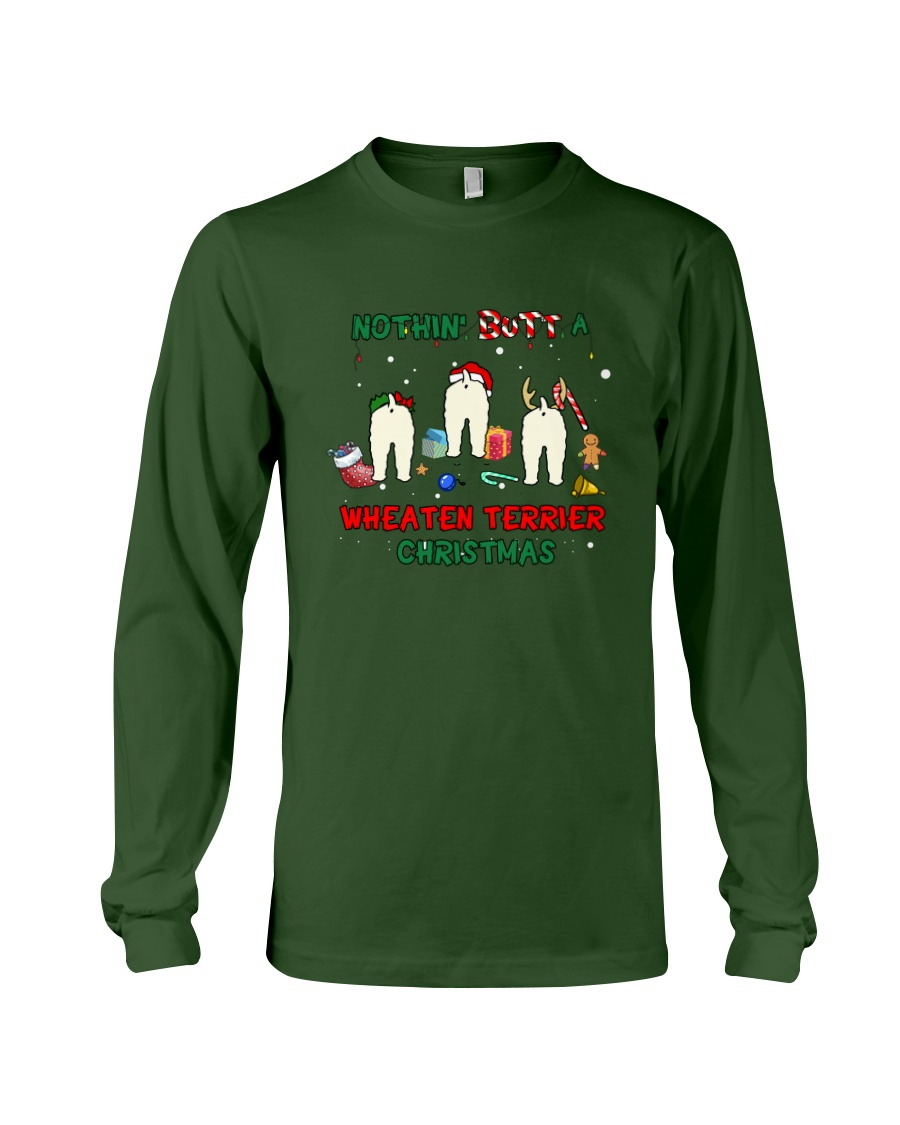 Nothing Butt A Wheaten Terrier Christmas Long Sleeve Tee