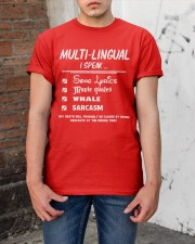 Funny Multilingual I Speak Fluent Classic T-Shirt apparel-classic-tshirt-lifestyle-31