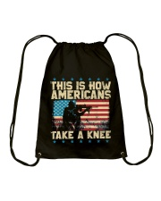 This Is How Americans Take A Knee Drawstring Bag front