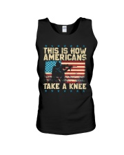 This Is How Americans Take A Knee Unisex Tank front