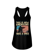 This Is How Americans Take A Knee Ladies Flowy Tank thumbnail